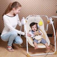 Новый стиль Портативный электрические качели детские кресла вышибала музыкой качалки для ребенка безопасной новорожденных детская спальн