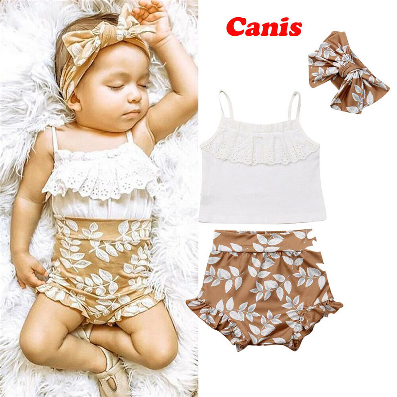 3PCS Summer Clothing Set Pudcoco Newborn Baby Girl Clothes