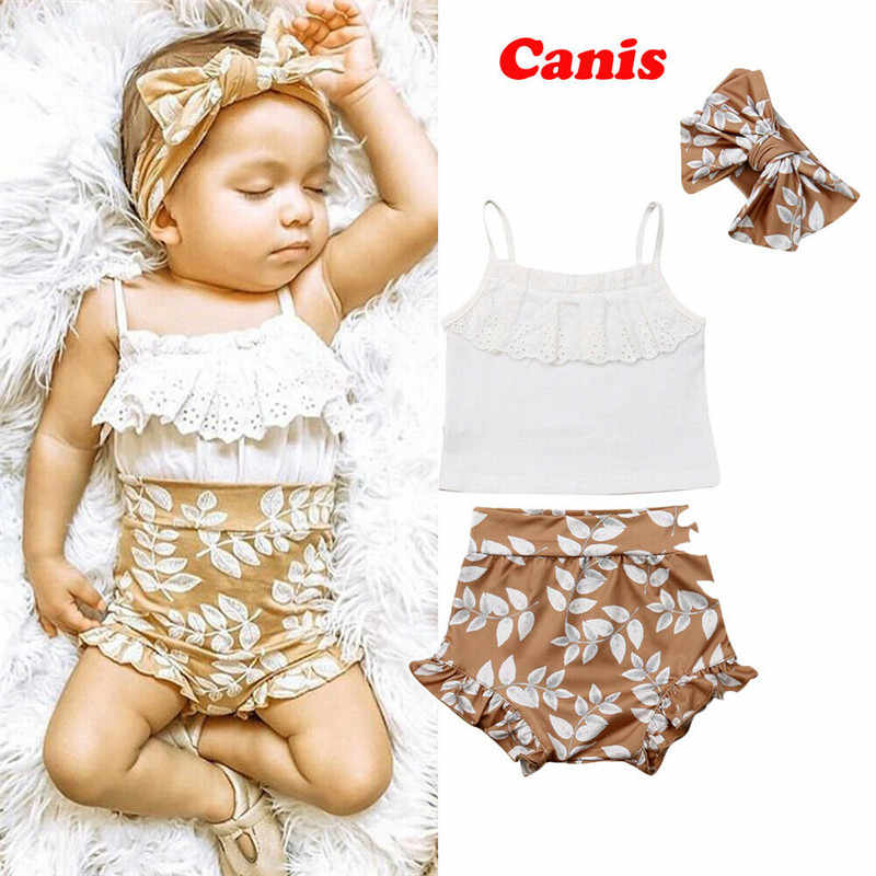 3PCS Sommer Kleidung Set Pudcoco Marke neugeborenes baby mädchen kleidung roupa de bebe menino baby outfit