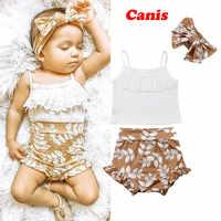 3 pçs conjunto de roupas verão pudcoco marca bebê recém-nascido roupas da menina roupa do bebê