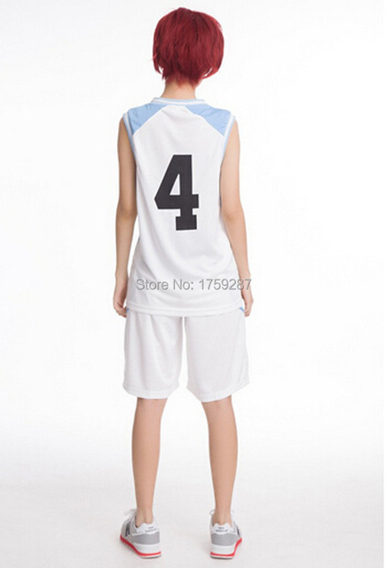 Anime Kuroko no Basuke RAKUZAN School Basket Ball Uniforms Akashi Seijuro Sportswear cosplay costume emboitement