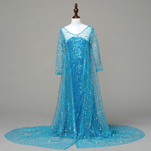 Pink Blue Elsa and Anna Dress Royal Birthday Shimmer and Shine for Girls  Princess Kids Evening c1555c616fc8