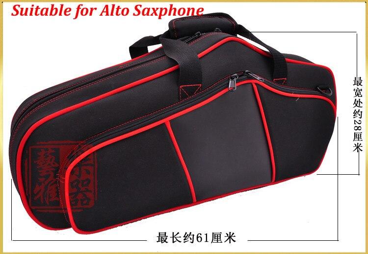 E flat altsaxofoon zakken/sax bagagebox/rugzak/dubbele schouders sax backback voor volwassen muziek instrument speelgoed - 3