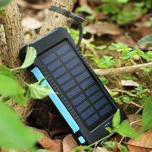 Cncool Солнечный запасные аккумуляторы для телефонов 20000 мАч портативный bank мАч 20000 мАч Внешний батарея со светодио дный подсветкой 2 порты мощность банк З…