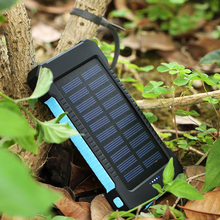 Cncool Solar power bank 20000mah Portable Bank 20000mAh External Battery with LED Light 2 Ports powerbank Charger Mobile Charger