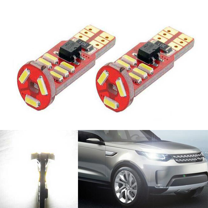 BOAOSI 2x T10 LED W5W Samsung Car LED Auto Lamp Light Bulbs For Land Rover v8 discovery 4 2 3 x8 freelander 2 defender A8 a9