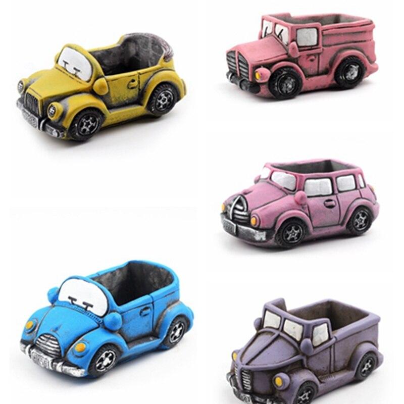 Cartoon Cars Silicone Concrete Mold Handmade Flower Pot Mould Concrete Planter Decorating Tool