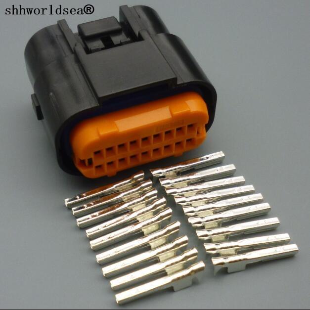 shhworldsea 4 10 30 100sets car wire electrical 18 pin. Black Bedroom Furniture Sets. Home Design Ideas