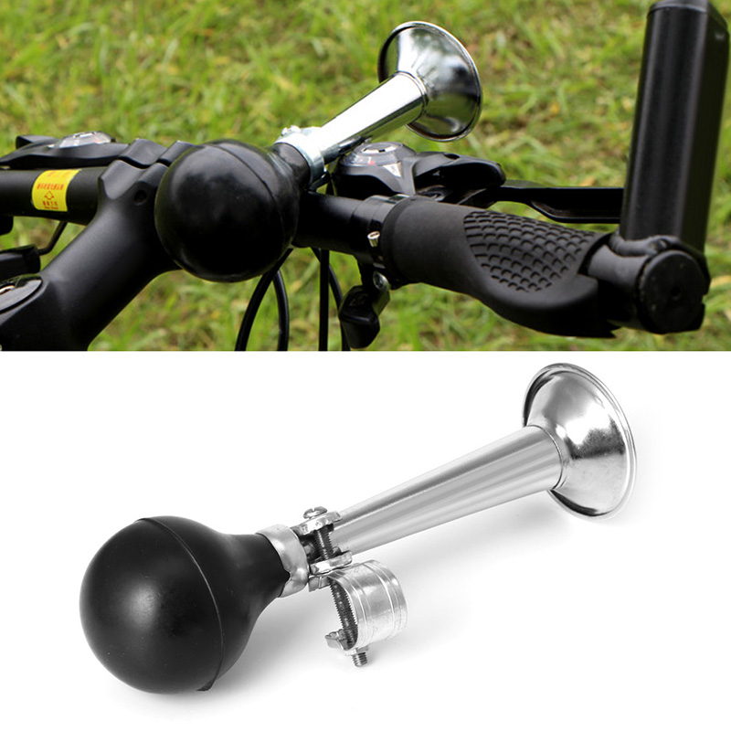 LOUD BICYCLE HANDLE BAR CHROME RETRO VINTAGE HOOTER HORN BIKE SQUEEZE BULB bike