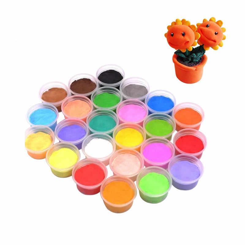 Воздушная ПЛАСТИЛИНОВАЯ глина красочный Пластилин Сверхлегкий Полимерная глина для поделок игрушка DIY мягкие глиняные игрушки для детей