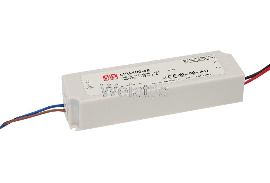 все цены на MEAN WELL original LPV-100-24 24V 4.2A meanwell LPV-100 24V 100.8W Single Output LED Switching Power Supply онлайн