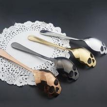 Чайная ложка из нержавеющей стали, ложка в форме черепа, посуда, посуда, ложка для кофейного напитка, ложка, посуда, кухонные инструменты, креативные подарки