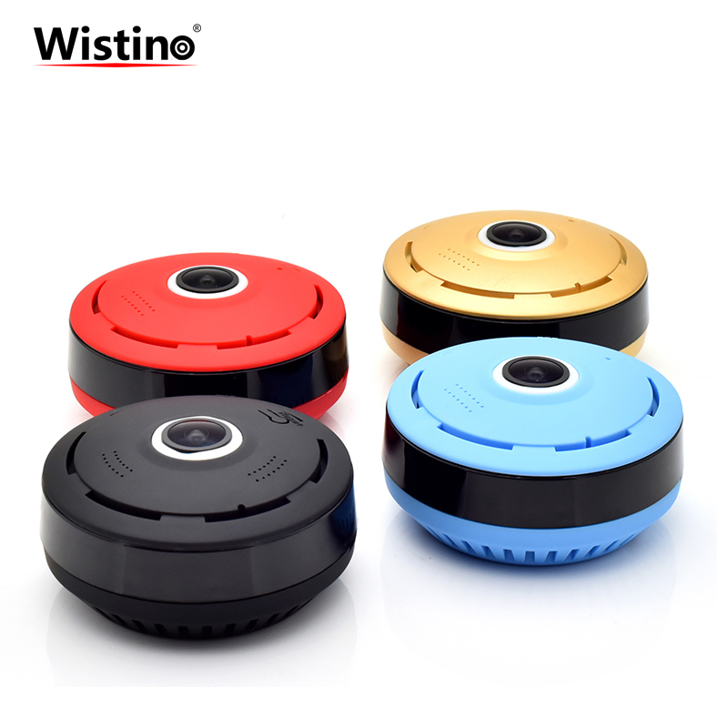 Wistino HD960P Panoramic Fisheye Wifi Camera VR 360 Degree Security Surveillance Camera Home Security Mini Wireless Baby Monitor