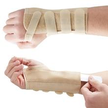 CFR Adjustable Wristband Wrist Support Splint Brace for Sprain Injury Pain Fracture Left Right Black Neoprene Elastic Bands