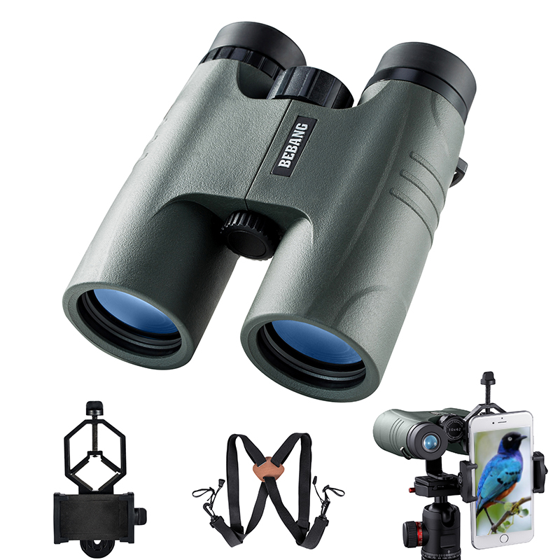 BEBANG 10x42 Binoculars Hunting Telescope for Birdwatching Jumelles Telescopio Concert Hiking BAK4 Roof Prism Optics Adults GiftBEBANG 10x42 Binoculars Hunting Telescope for Birdwatching Jumelles Telescopio Concert Hiking BAK4 Roof Prism Optics Adults Gift
