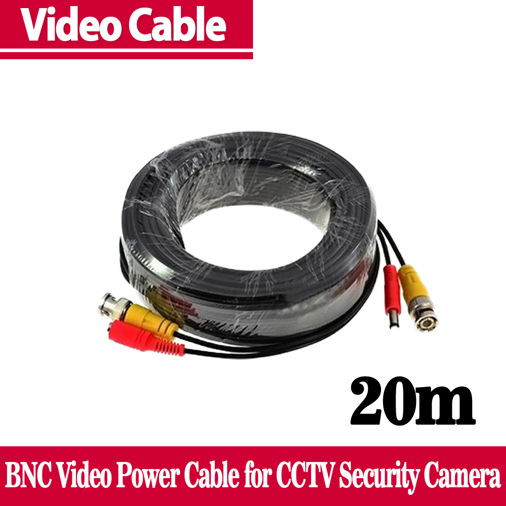 65ft(20m) BNC Video Power Siamese Cable Surveillance CCTV Camera Accessories DVR Kit - NINIVISION -Security Store store