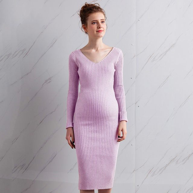 4982616d09712 Pregnant Maternity Full Autumn Dresses For Pregnant Women Clothes Premama  Striped Maternity Dress Skirt Wear Gown