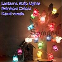 20pcs Lanterns Strip Lights Christmas Tree Ornaments Christma Gifts For New Year AC220V 3M Cristmas Garland
