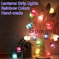 Romântico 3 m férias tira luzes para festa / ano novo / natal decoração agradável atmosfera AC220V lanterna decoração 7 cores