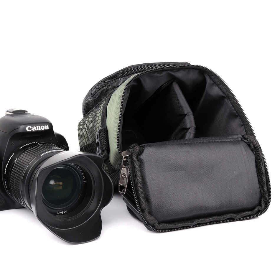 Engrossar Nova Mochila Saco Da Câmera Para Sony Alpha RX100 M1 M2 M3 M4 NEX-5 A6000 A5100 Nikon 1 J5 Canon m3 G7X Camera Case Capa Bag