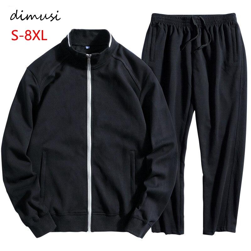 DIMUSI hiver vêtements de sport pour hommes ensembles survêtement vêtements pour hommes Sweatshirts hommes gros Loosse vestes à capuche vêtements 6XL 7XL 8XL, TA239