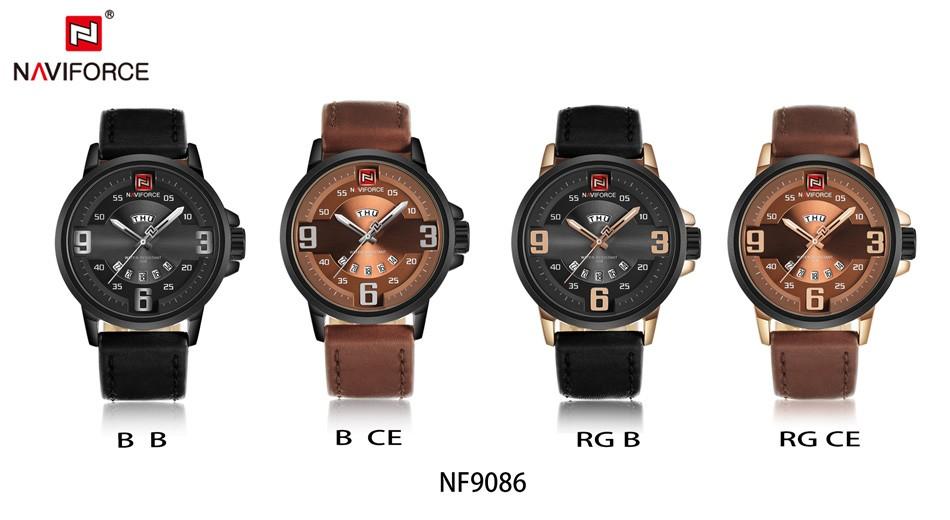 Naviforce NF9086 Men Fashion Quartz Watch