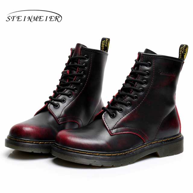 2017 boots winter snow factory-shoe black white red winter boots for women with fur Waterproof boots big shoes woman size 11