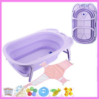 Foldable Hanging Baby Bath Tub For Newborn Travel Portable Baby Bathing Basin Tempreature Color Changing Child