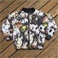 boy jacket football 2017 New Children coat football Print Kids warm Jackets Autumn Winter Baby coat Boys Clothing Outerwear
