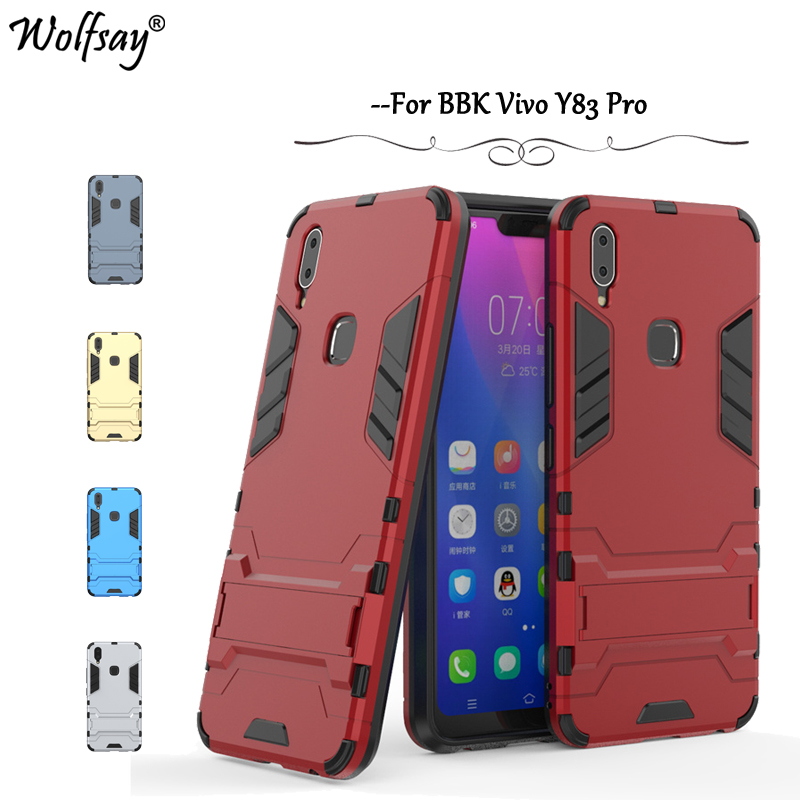Cover Vivo Y83 Pro Case Luxury Slim Robot Armor Rubber Phone Case For Vivo Y83 Pro Back Cover For BBK Vivo Y83 Pro Shell Fundas