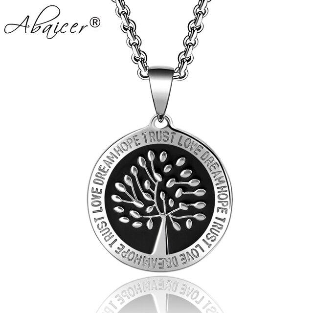 0a05a2903184 Abaicer Nordic Vikings runas amuleto celta Árbol de la vida colgante  declaración Acero inoxidable Collar para