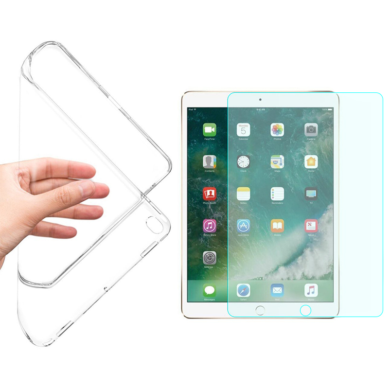 Soft Flexible Clear Case Cover For IPad Mini Case 1 2 3 Screen Protector For IPad Mini Case + 9H Hard Glass Protector