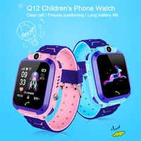 Q12 montre intelligente LBS Kid smartwatch bébé montre 1.44 pouces étanche Chat vocal GPS localisateur localisateur moniteur Anti perte