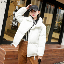 цены YTNMYOP 2019 New Casual Winter Coat Women Short Cotton Padded Jacket Outwear Solid Loose Wadded Coat Thick Warm Female Jacket Winter Ladies Clothing
