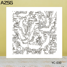 AZSG Funny Dinosaur Clear Stamps/Seals For DIY Scrapbooking/Card Making/Album Decorative Silicone Stamp Crafts