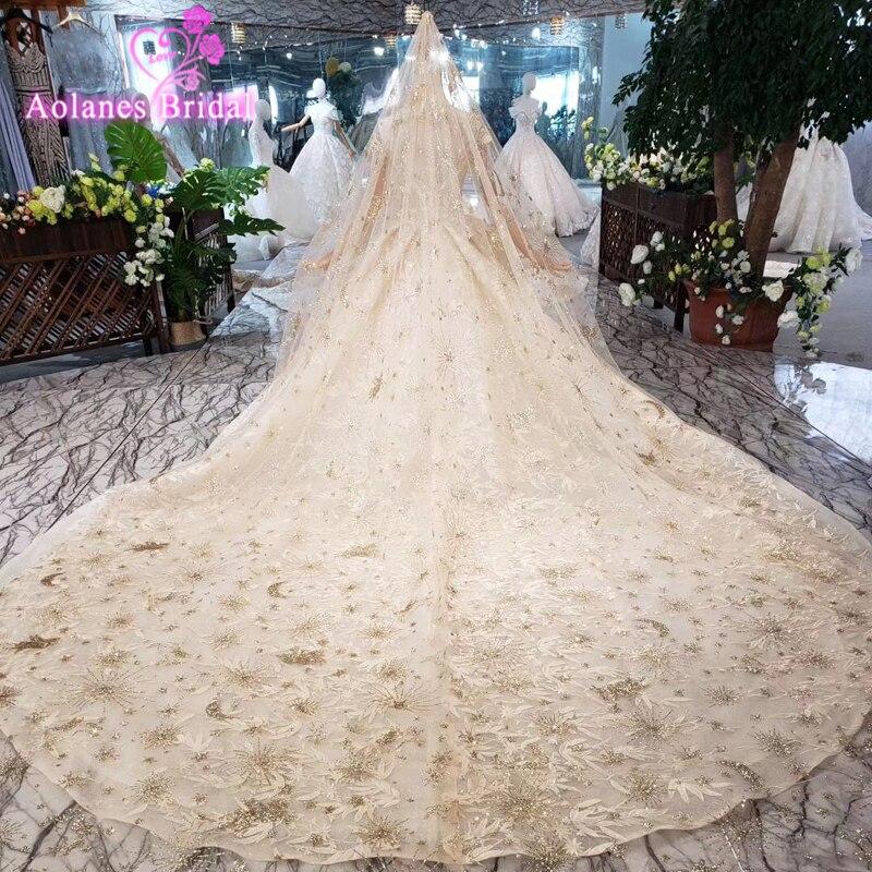 Robes De bal arabes bouffantes or robe De soirée brillante pailletée Vestido Longo 2019 moyen-orient robes De soirée formelles Vestido De Festa