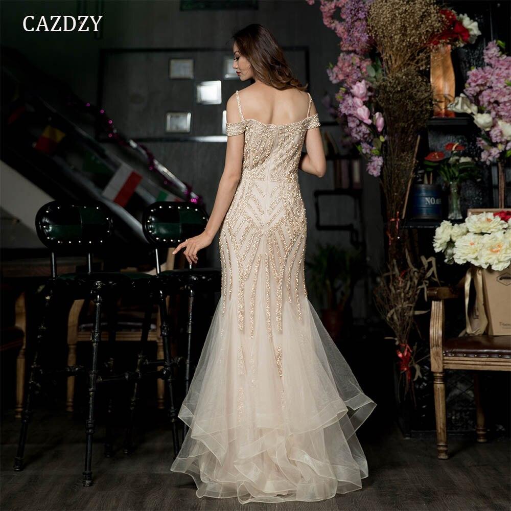2018 Robe De Soiree Diamond Evening Party Dress Nude Color Tulle ... 23f0ef6da8ab