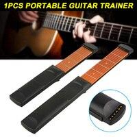 1 шт. портативный карманов гитары бас инструмент для практики 6 строка гаджет аккорд тренер ASD88