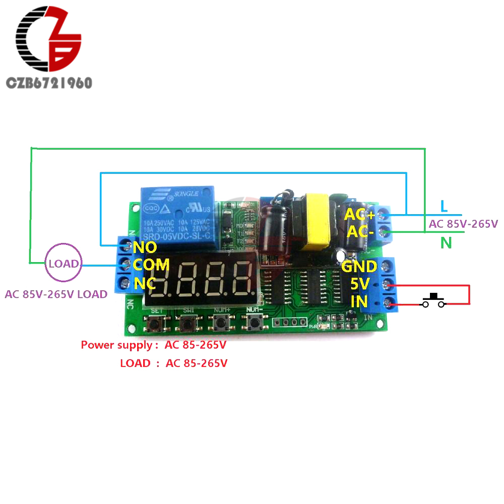 IO23B01 AC 110V 220V Time Delay Relay Module Multifunction Self-lock Relay  Converter PLC Cycle Timer Relay Switch Time Delay