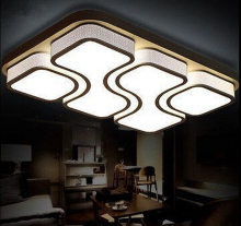Modern Brief living room led ceiling lamps   Rectangle LED Ceiling Lighting  black/white bedroom lamp