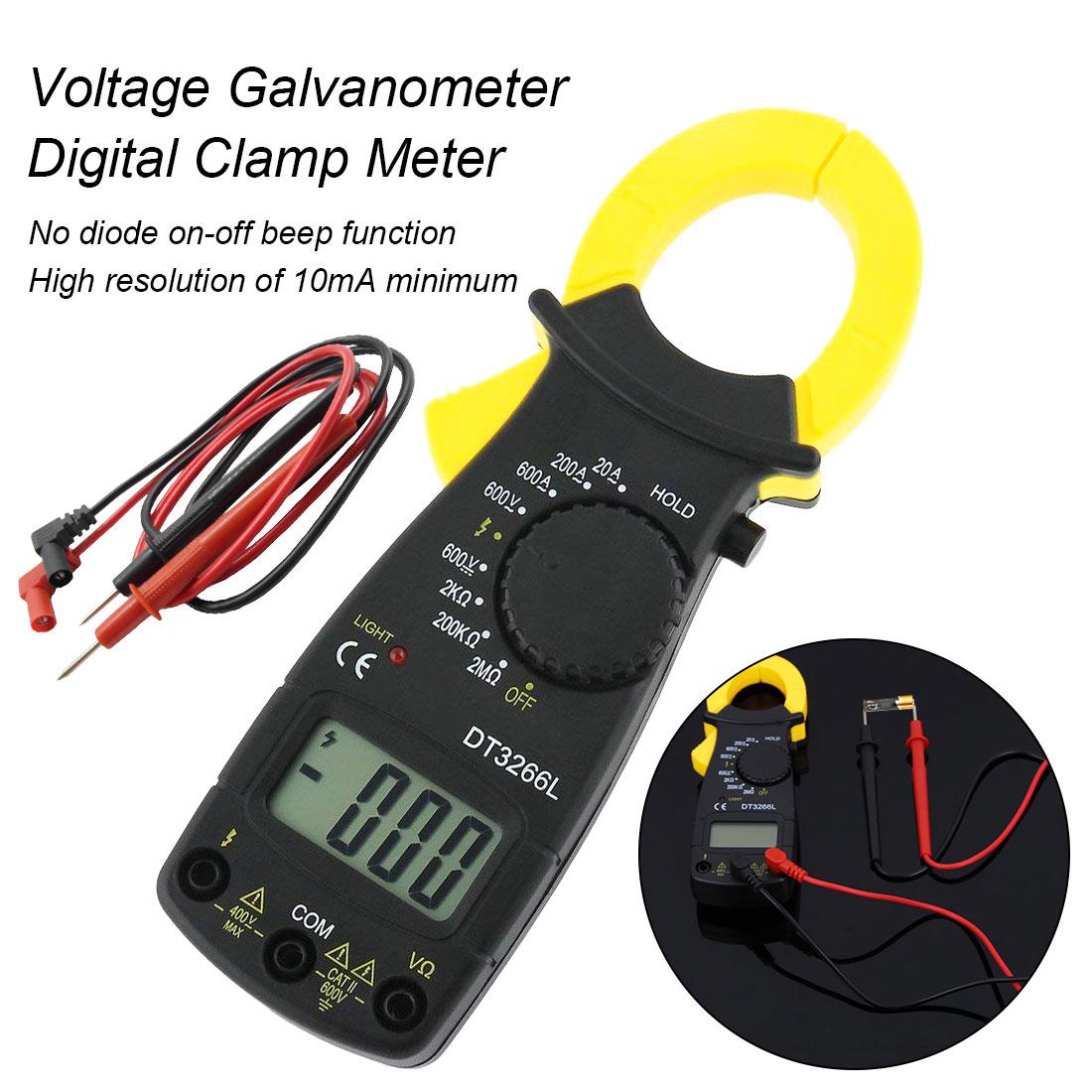 Multimeter Strom Clamp Pinzetten Voltmeter Amperemeter 600a Ac/dc Ohm Strom Spannung Tester Digitale Amper Clamp Meter Dt-3266l Attraktives Aussehen