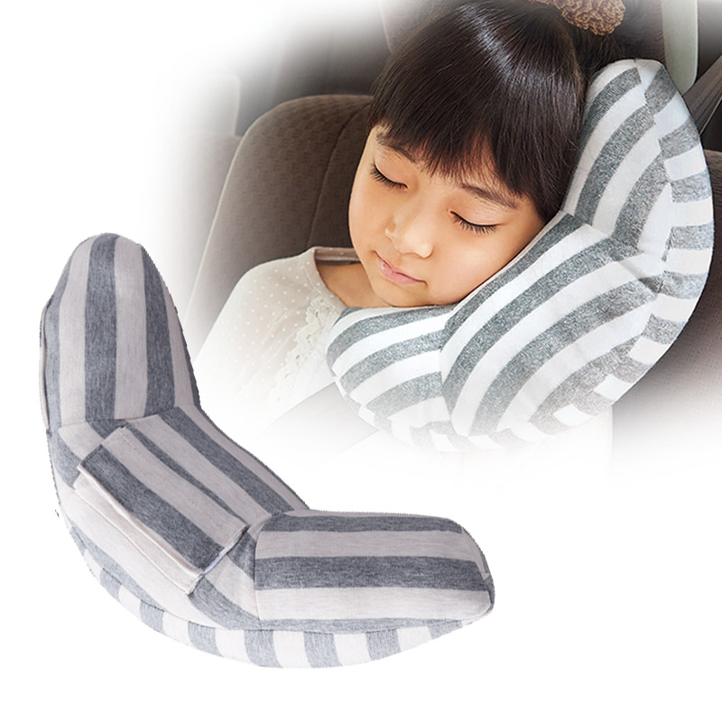 2 Pieces Universal Children Neck Headrest Seat Belt Shoulder Pads Removable Car Comfortable Sleep Pillow Cushion Head Support