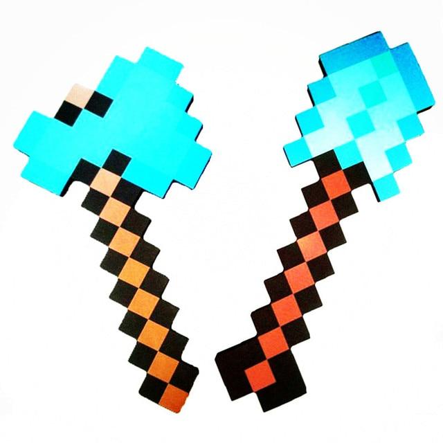 d41951a4a 2018 Zabawki Minecraft Minecraft Diamentowy Miecz Kilof Foam Gun Axe TNT  EVA Klocki Prezent Zabawki Dla
