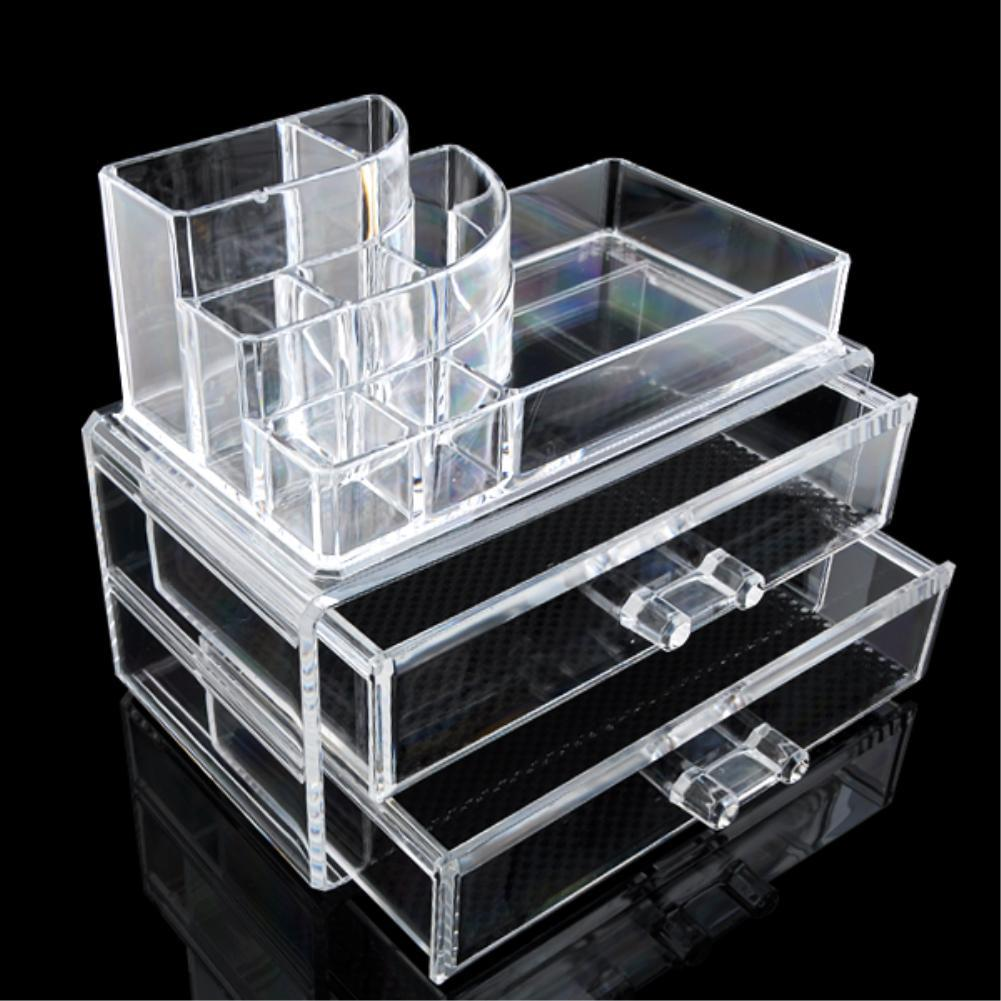 10 Grid 3 Layer Drawer jewelry Box Make up Organizer Storage Holder