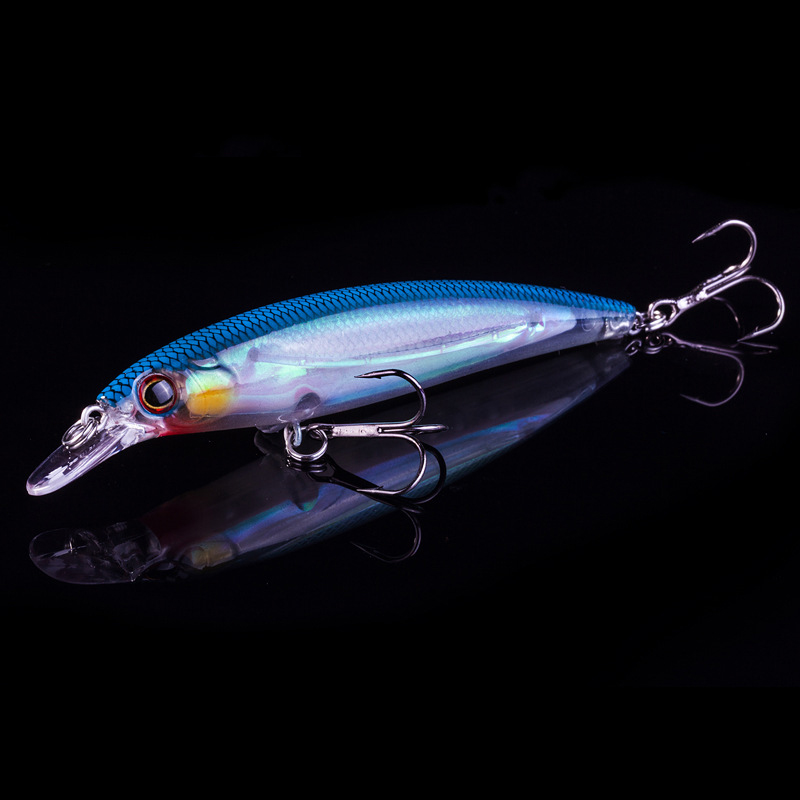 1PCS 11cm 14g Flydende Minnow Fiske Lure Tungsten Ball Hård Kunstig Bait 3D Laser Eyes Luminous Wobblers Crankbait Minnows