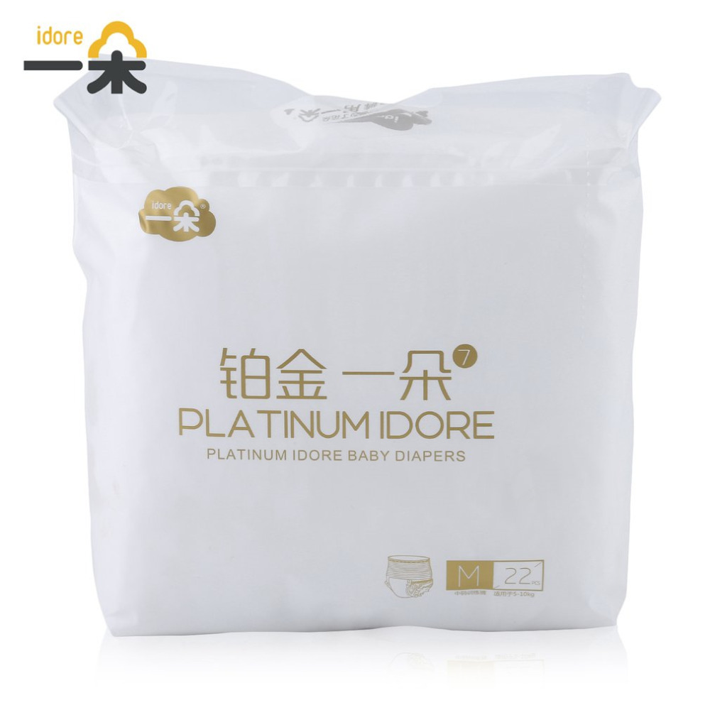 Baby Diapers Idore Disposable Nappies Size M/L/XL Quick Absorb Platinum Ultra-Thin Breathable Leakproof Comfortable Nappy Care