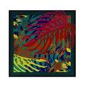 2017 Мода 100 СМ весна и осень ручная роспись цвет масляной живописи стиль листьев саржевого большой площади шарф шарф подарок платок