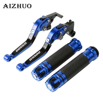 Motorcycle Brake Clutch Lever Extendable+Hand Grips Handlebar For SUZUKI GS500 GS 500 1989-2008 1990 91 92 93 94 95 2007 06 05