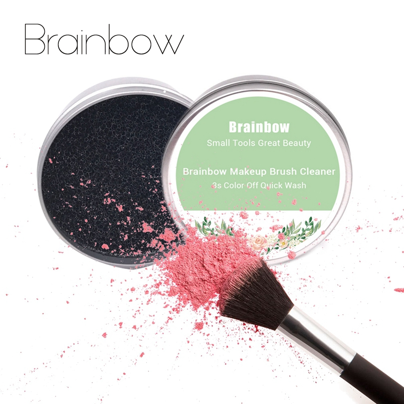 Brainbow Quick Color Off Makeup Brush Cleaner Sponge Remover Color From Brush Eyeshadow Quick Wash Cleaner Brush Makeup Tool Kit shiyu syz 779 rechargeable lint remover cleaner w brush deep purple pink 220v