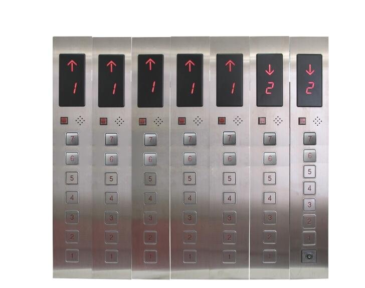 DC24V 7-Floors Hall Call Display Button Plate for Elevator Lift